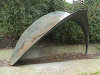 Amsterdam Holland and the sculptures of Lucien den Arend - his site specific sculpture ordered by the city of Amsterdam