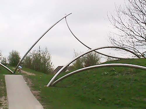 Houten Holland and the sculpture of Lucien den Arend - his site specific sculptures ordered by the city of Houten