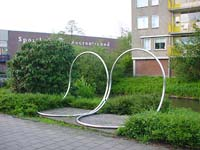 the city of Maarssen Holland - sculptures (site specific and public sculpture) in cities in Europe and America by Lucien den Arend - site specific constructions in Maarssen (Maarssenbroek