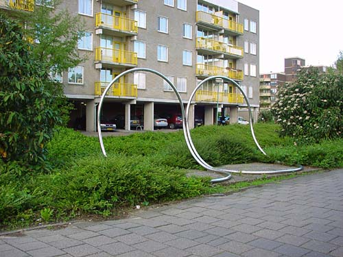 the city of Maarssen Holland and the sculpture of Lucien den Arend - site specific constructions in Maarssen (Maarssenbroek