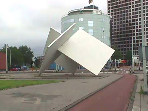 Rotterdam Holland - sculptures (site specific and public sculpture) in cities in Europe and America by Lucien den Arend - his site specific sculptures ordered by the city of Rotterdam - Alexandepolder - Overschie - Marconiplein