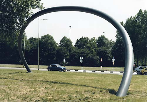 Spijkenisse Holland - sculptures (site specific and public sculpture) in cities in Europe and America by Lucien den Arend - his site specific sculptures ordered by the city of Spijkenisse